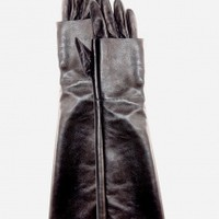 Leather Double Gloves - Black | NOT JUST A LABEL