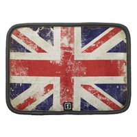 Folio Planner with Distressed Great Britain Flag