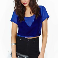 Nasty Gal Collection Levitate Velvet Crop Top
