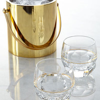 Waterford Elysian Ice Bucket & Rocks Glasses