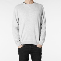 Mens Wilder Crew Sweat (Grey Marl) | ALLSAINTS.com