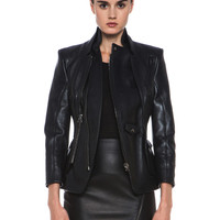 Prince Leather Jacket in Black