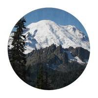 Cascade Mountain Round Cutting Board