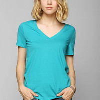 BDG Washed V-Neck Tee - Urban Outfitters