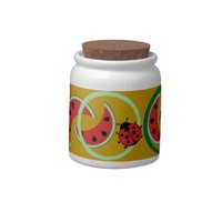 Watermelon and ladybug Candy Jar