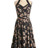 Frock 'n' Roll Dress in Skulls | Mod Retro Vintage Dresses | ModCloth.com