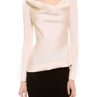 Donna Karan New York - Long Sleeve Asymmetrical Top