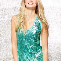 SEQUIN HIGH LOW TANK