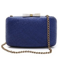 KAYU - Annie Straw & Shell Clutch