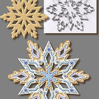 LARGE SNOWFLAKE 7.5 IN. 5879