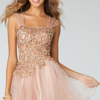 Short Sleeveless Rhinestone Dress