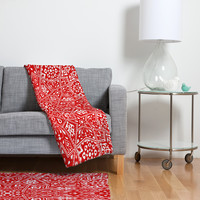 Aimee St Hill Amirah Red Fleece Throw Blanket