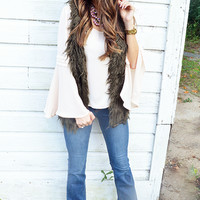 All The Wild Things Vest: Brown