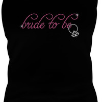 Bride To Be Rhinestone Iron On Transfer - DIY Rhinestone Heat Transfer