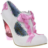 NEW IRREGULAR CHOICE *FAIRIES IN A JAR* pink ribbon bow,perspex heel-4-5-6-6.5-7