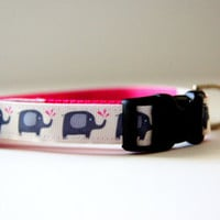 Lucky Elephant Dog Collar Adjustable Sizes (XS, S, M)