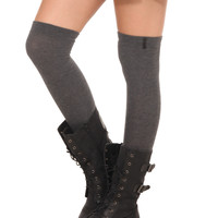 LOVEsick Grey Over-The-Knee Socks