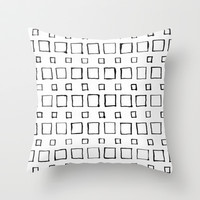 Squared Straight Throw Pillow by LacyDermy