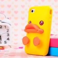 Cute Solid 3D Duck and Egg Soft Silicone Gel Back Case Cover for iPhone 5
