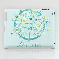 Tree of Life Floral Damask Watercolor Pattern iPad Case by Audrey Jeannes