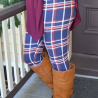 No Blurred Lines Leggings: Multi