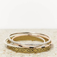 AEO MIXED METAL BANGLE SET