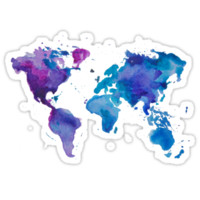 Watercolor Map of the World (t-shirt)