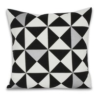 Origami Pillow - Metallic Silver