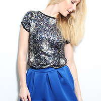 The Gunit Sequined Top - Furor Moda - Tops - Dresses - Jackets - Vintage