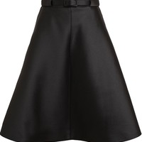 CARVEN Structured Silk-satin Skirt