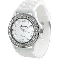 Walmart: Geneva Platinum Ladies' Rhinestone Accented Silicone Watch