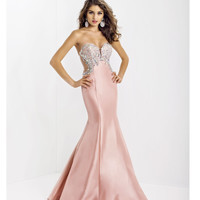 (PRE-ORDER) Blush 2014 Prom Dresses - Blush Crystal & Taffeta Strapless Sweetheart Prom Dress
