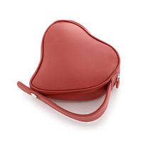 Tiffany & Co. - Elsa Peretti® Heart makeup bag in red leather.