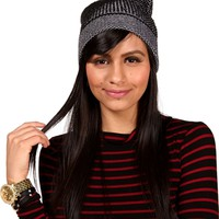 Two Tone Fold Up Beanie