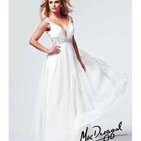 (PRE-ORDER) Mac Duggal 2014 Prom Dresses - White Cut Out Embellished Prom Gown