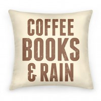 Coffee Books & Rain Pillow (Beige)