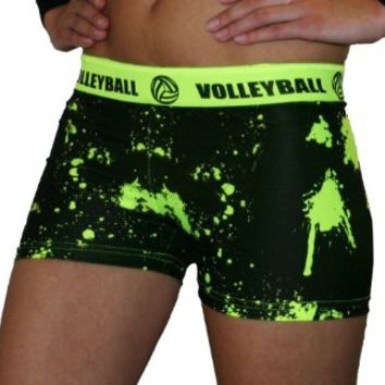 SV Forza Women's Volleyball Printed Compression Shorts