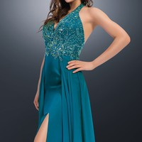 Beaded Haltered Gown by 2Cute