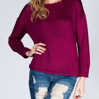 RAZZLE DAZZLE Womens Slash Back Sweater
