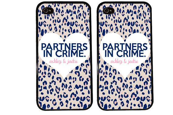 BFF Case / Partners in Crime PERSONALIZED from KasiaKases on Etsy