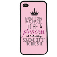 Princess iPhone Case / Funny iPhone 4 Case Family iPhone 5 Case iPhone 4S Case iPhone 5S Case Cute Quote Pink Phone Case