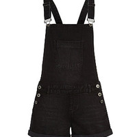Black Lightweight Short Dungarees