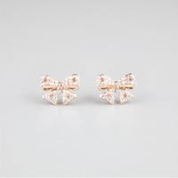 FULL TILT Rhinestone Bow Earrings