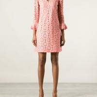 MOSCHINO floral lace dress