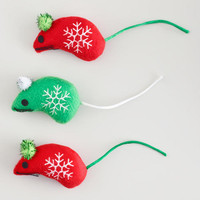 MICE CATNIP TOYS, SET OF 3