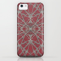 Snowflake Red iPhone & iPod Case by Project M