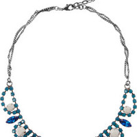 DANNIJO Alexandra pewter crystal necklace – 72% at THE OUTNET.COM