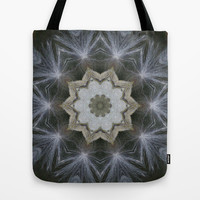 Silky milkweed mandala Tote Bag by RVJ Designs