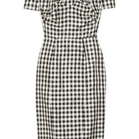 Rochas Checked woven silk dress – 61% at THE OUTNET.COM