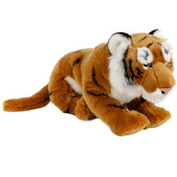 FAO Schwarz 19 inch Plush Tiger - Orange and Black